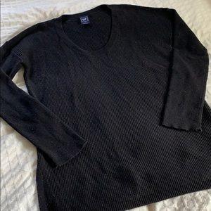 Black GAP Long Sleeve Scoop Neck Sweater